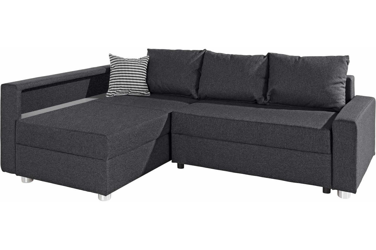 Ecksofa Luca Collection Ab Ecksofa Relax Links Mit Led Und Schlaffunktion Anthrazit Mit Federkern