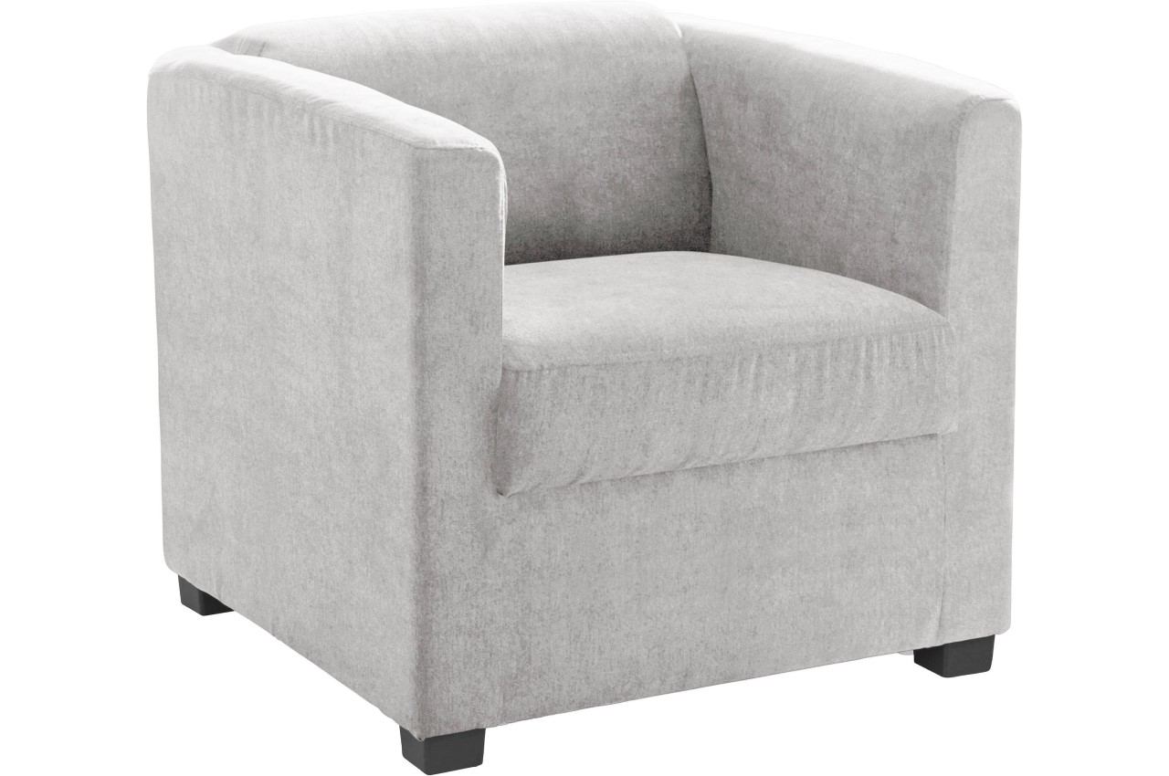 Hocker Grau Sessel Bob Mit Hocker Grau