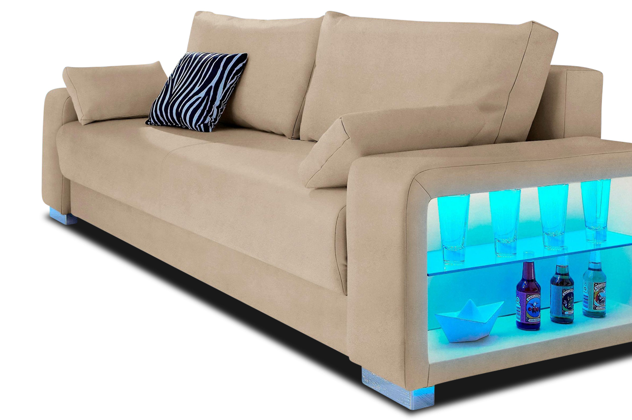 Sofas Und Couches Collection Ab 3er-sofa Toronto - Mit Led Und ...