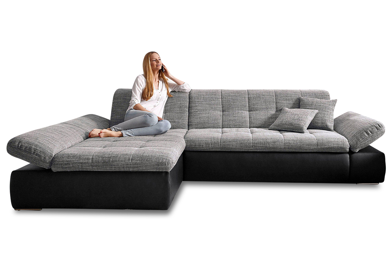 Ecksofa Links Ecksofa Moric Kis Links Mit Schlaffunktion Grau