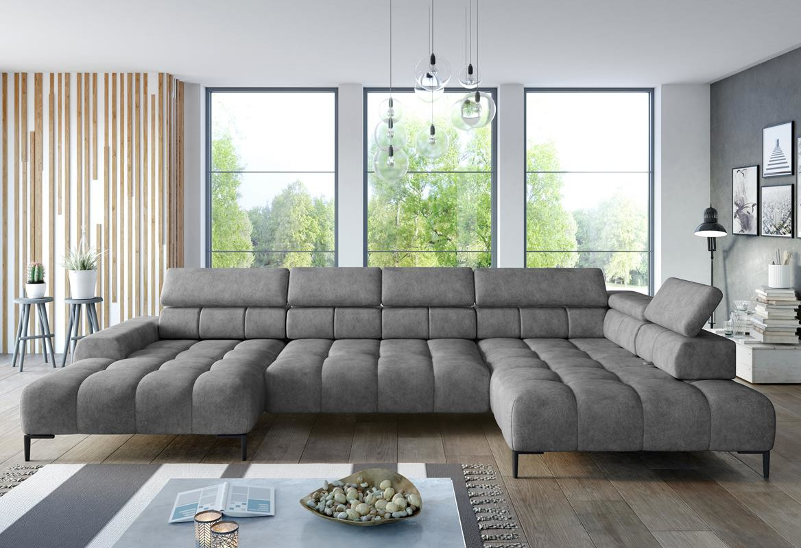 Couch U Form Grau Wohnlandschaft U-form Cobra Xl » Onlineshop I Sofa & Bett