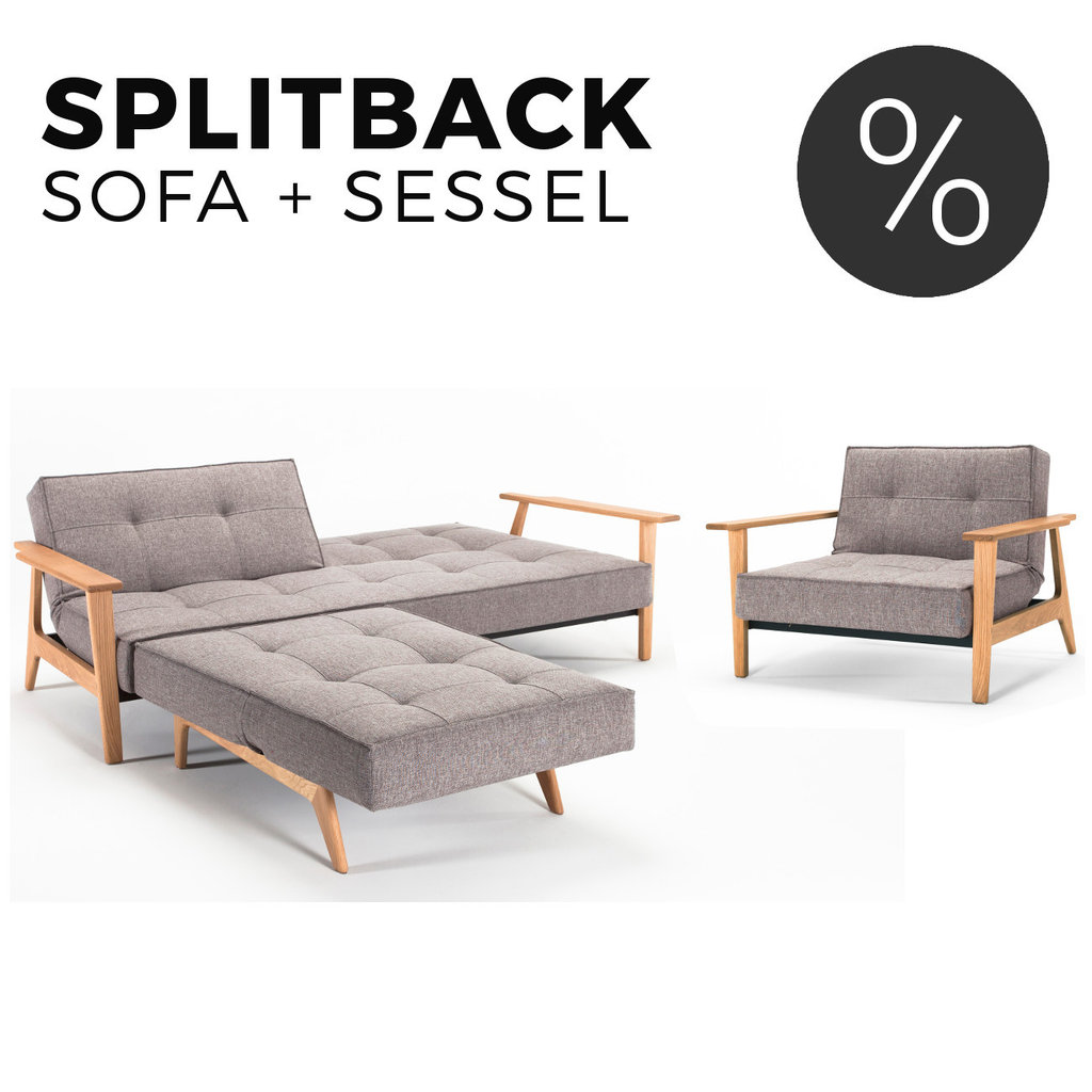 Sofas Mit Sessel Splitback Frej Sofa Und Sessel Set Von Innovation
