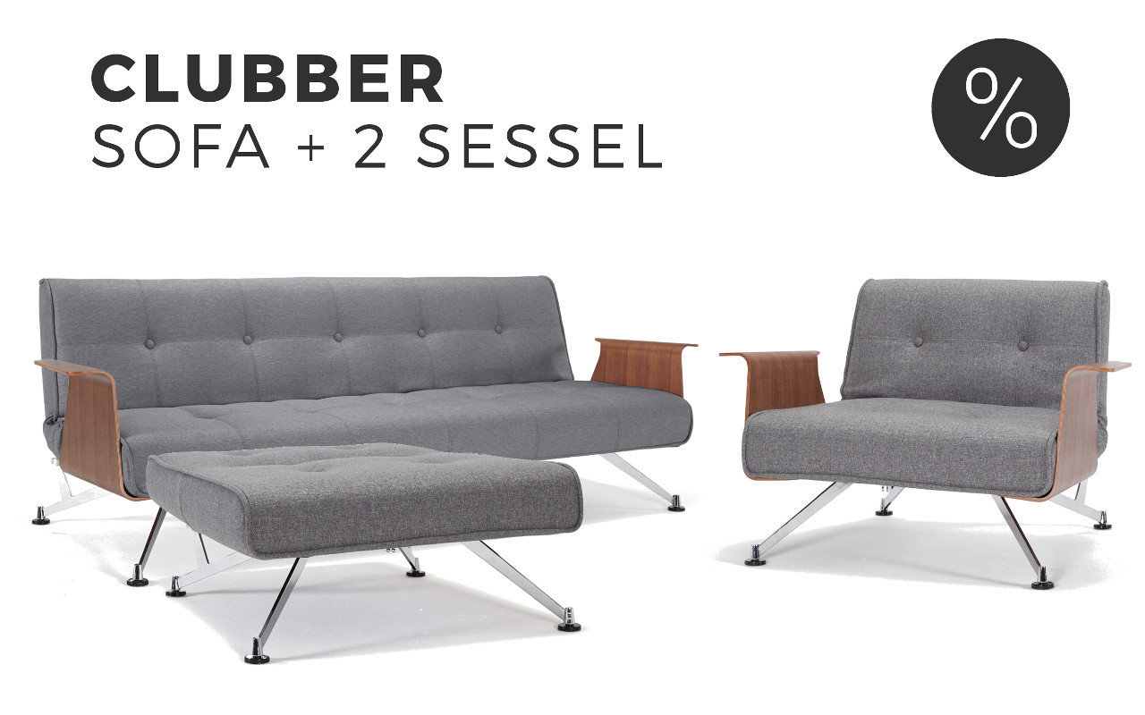 Sofa Und Sessel Set Innovation Clubber Schlafsofa Mit Sessel Im Set Sofawunder