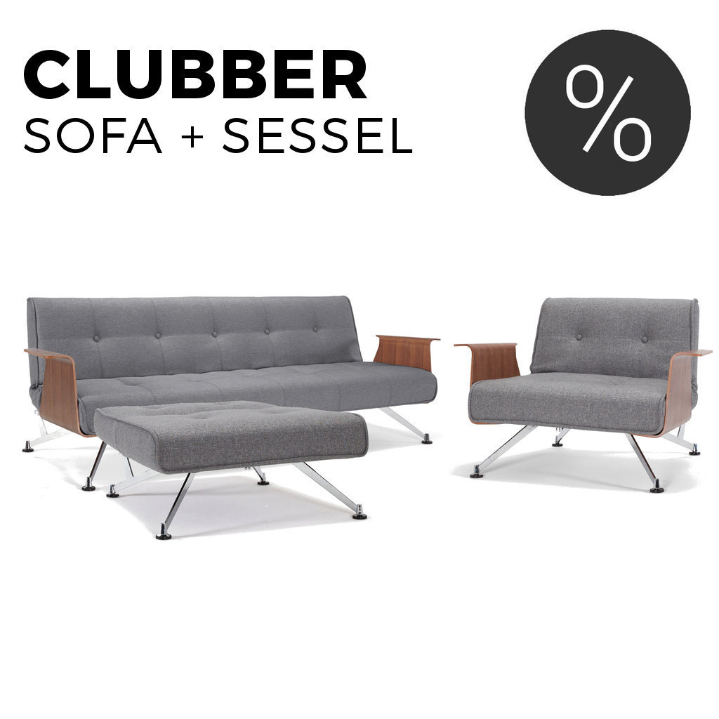 Innovation Clubber Sessel Set Clubber Schlafsofa Sessel Von Innovation
