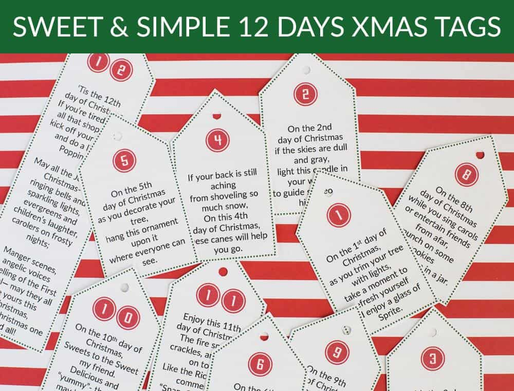 Sweet  Simple 12 days of Christmas + Printables - So Festive!