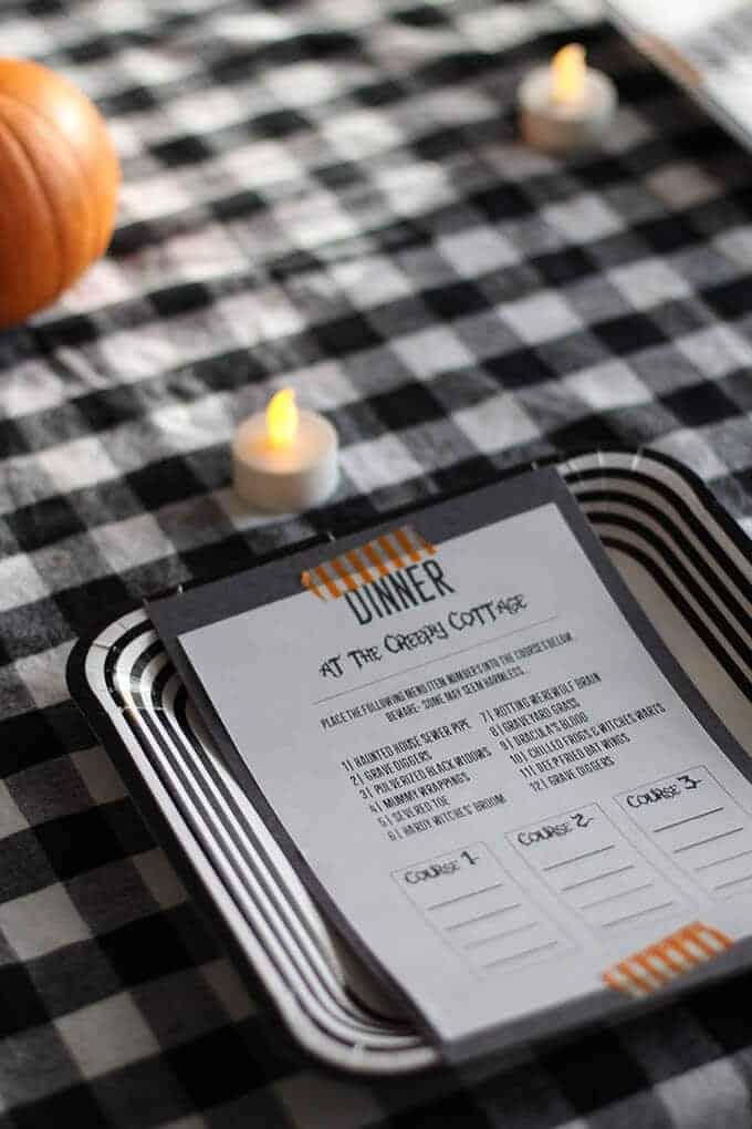 Kid-Friendly Halloween Mystery Dinner with Printable Menus- So Festive!
