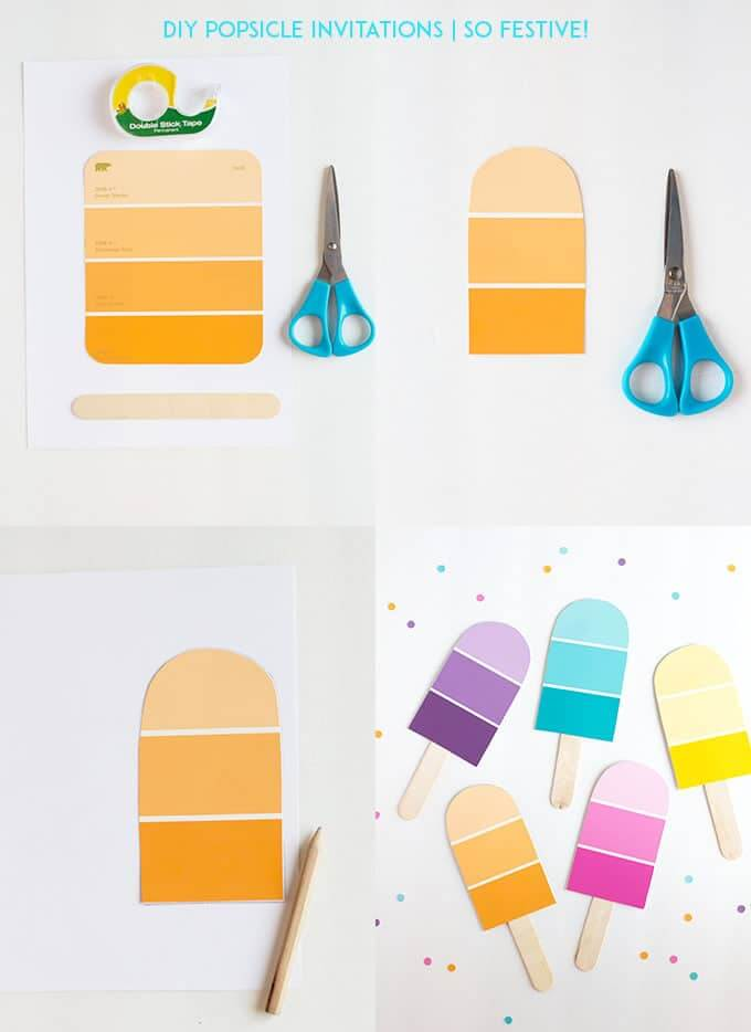 DIY Popsicle Party Invitations - So Festive! - family reunion invitation cards