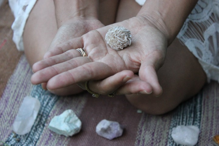Sofia's Hands with Stones