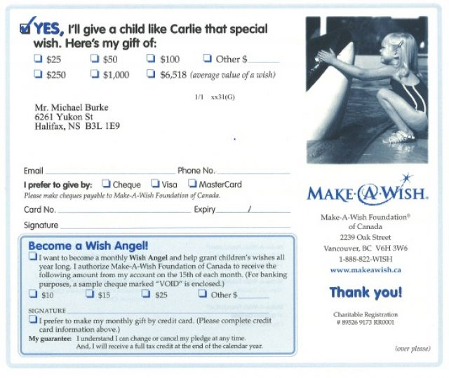 SOFII · How I wrote it the Make-A-Wish Foundation\u0027s prospect letter - make a wish mission statement