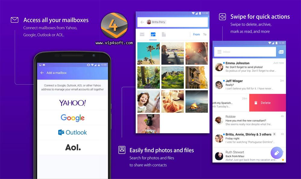 تطبيق بريد ياهو Yahoo Mail لنظام الأندرويد