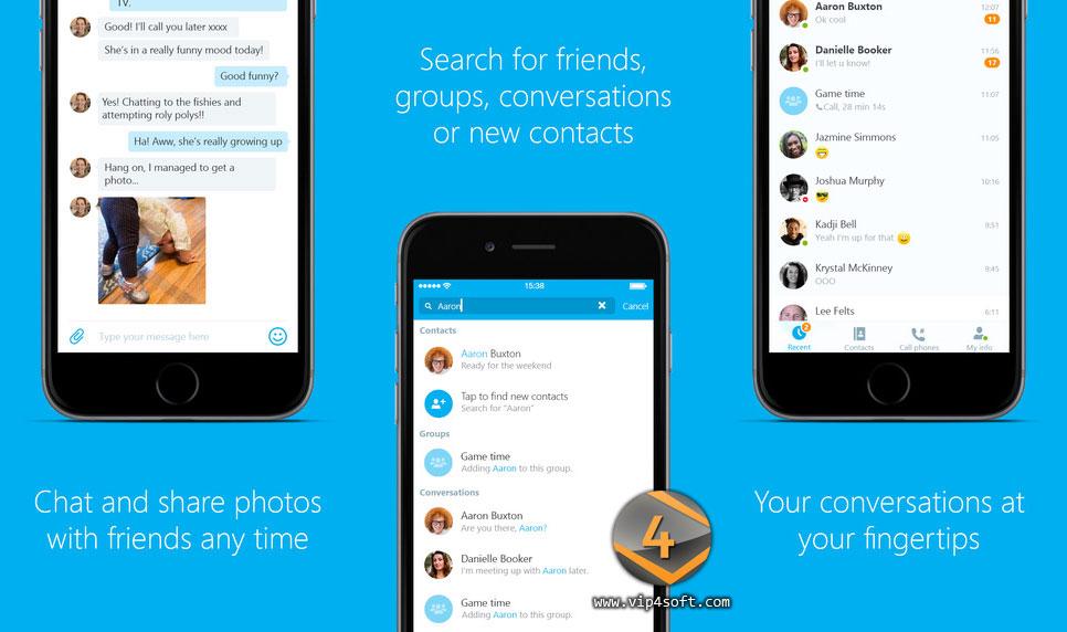 Skype تطبيق سكايب لهاتف آيفون