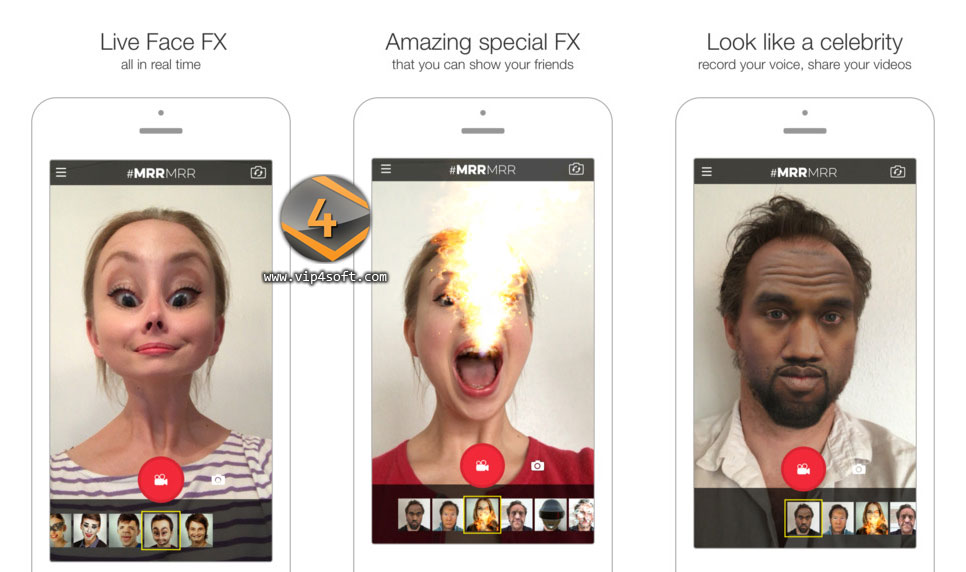 MRRMRR تطبيق آيفون لإضافة أقنعة على الوجه أثناء تصوير فيديو سيلفي