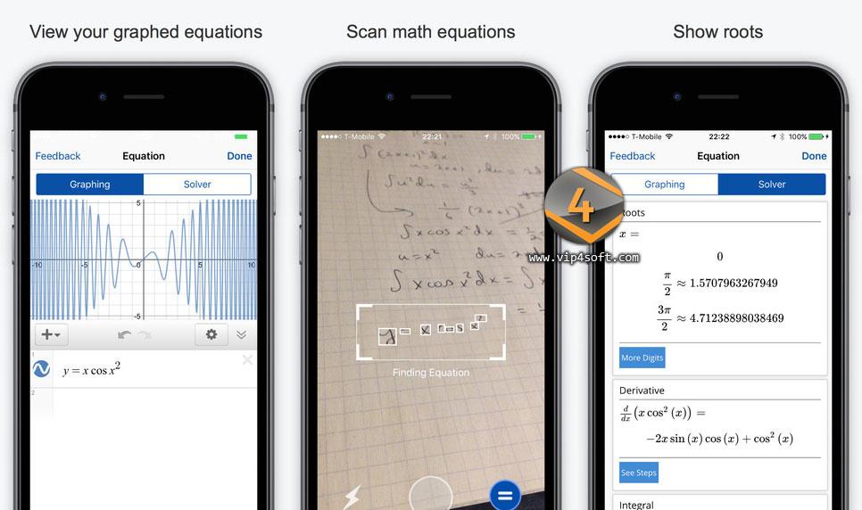 Mathpix تطبيق لحل المعادلات الرياضية ورسمها على الايفون والايباد