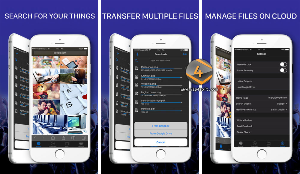 Files – File Browser & Manager تطبيق آيفون لإدارة تحميل وتنزيل الملفات