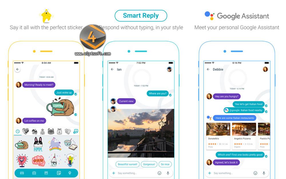 تطبيق التراسل الفوري الذكي جوجل ألو Google Allo للايفون والايباد