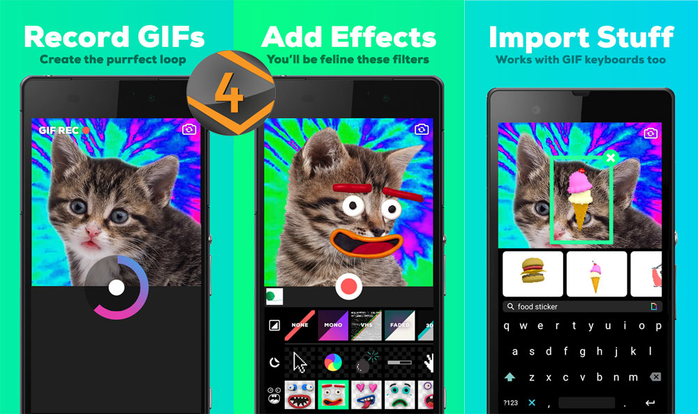GIPHY CAM تطبيق أندرويد لإنشاء الصور المتحركة والتأثيرات الحركية والملصقات