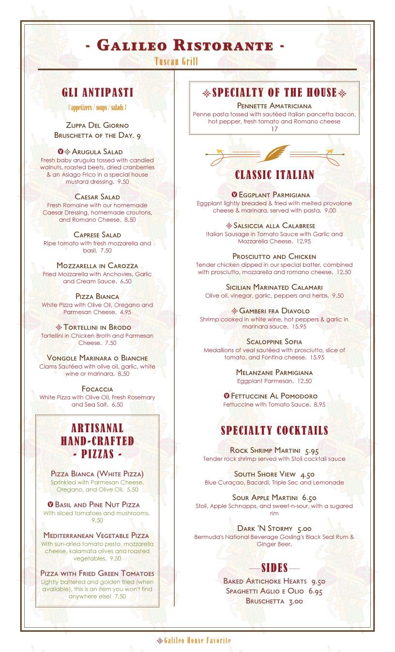 bistro menu template