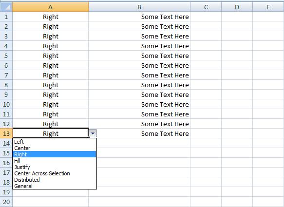 Excel VBA, Set Horizontal Alignment, (Sample Code) - VBA and VB.Net ...
