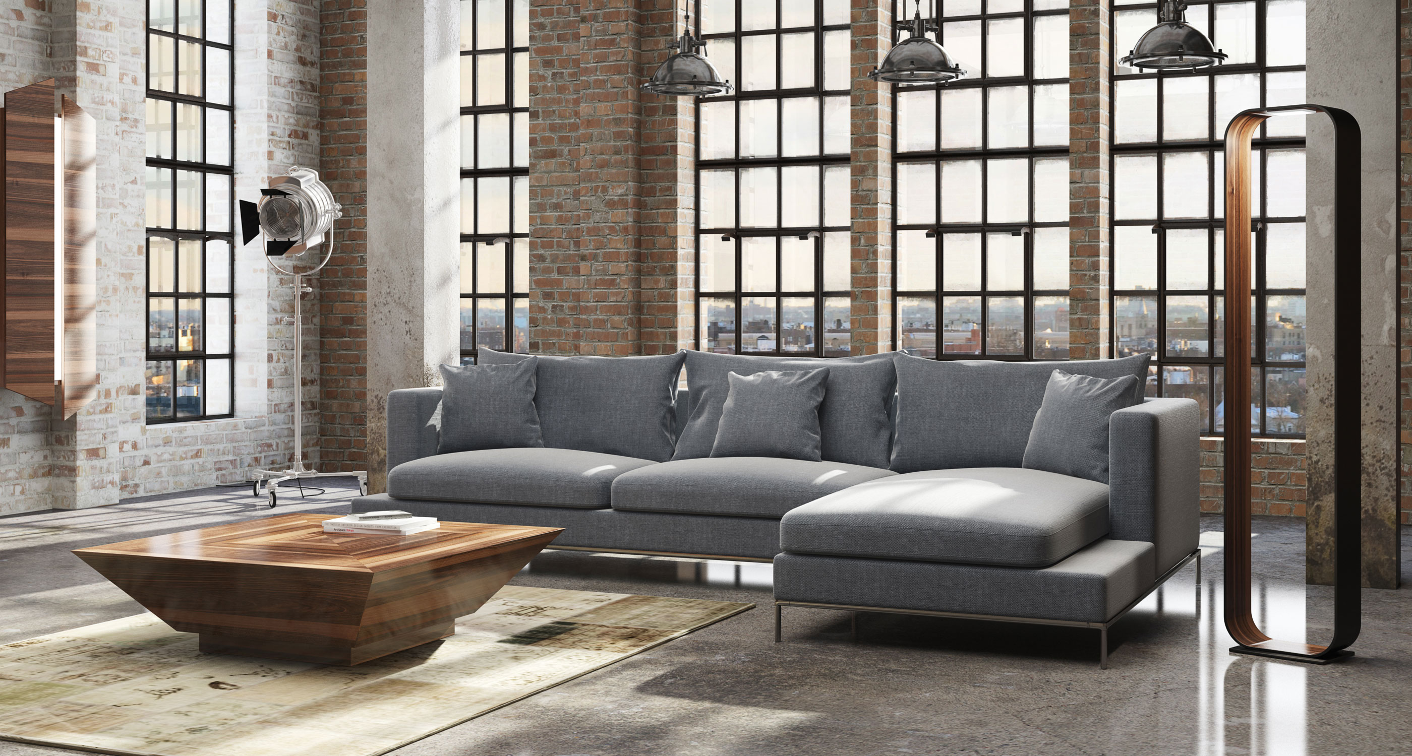 Sofa Bed With Metal Frame Simena | Contemporary Sectional Sofas | Sohoconcept