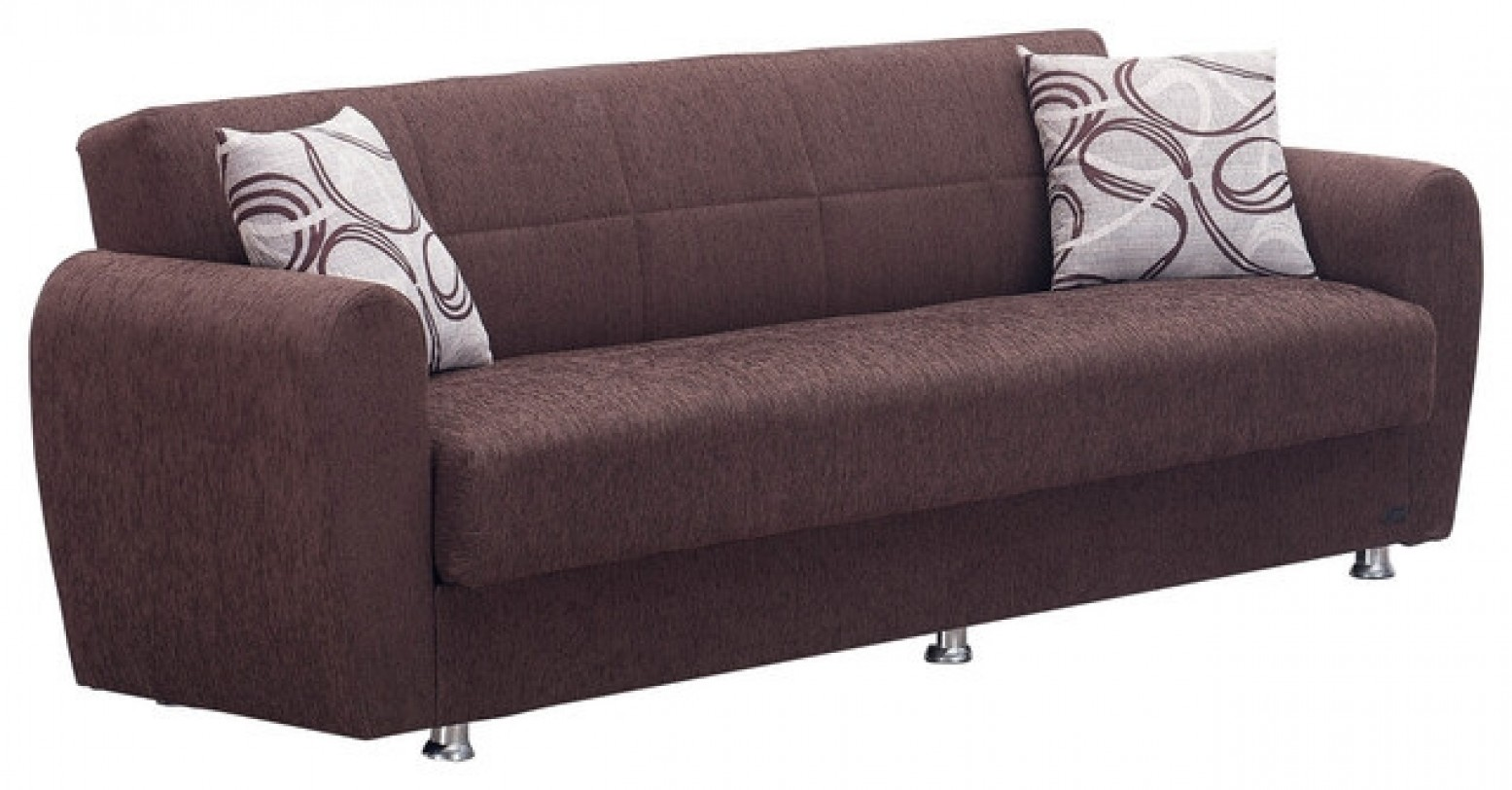 Boston Fabric Storage Sofabed Brown By Empire Furniture Sohomod Com