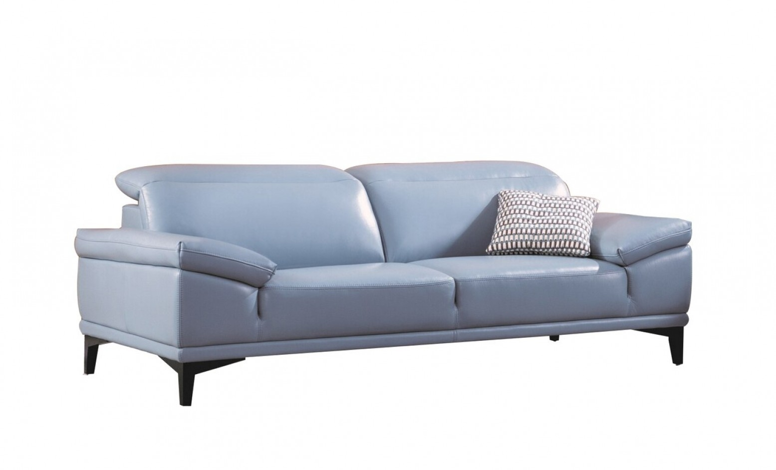 S215 Top Grain Leather Sofa Aqua By Beverly Hills Furniture Sohomod Com