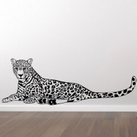 Leopard - En meget detaljeret wallsticker kb den online