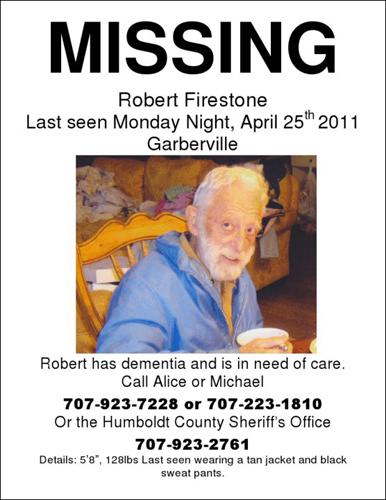 Robert Firestone still missing SoHum Awareness - missing person posters