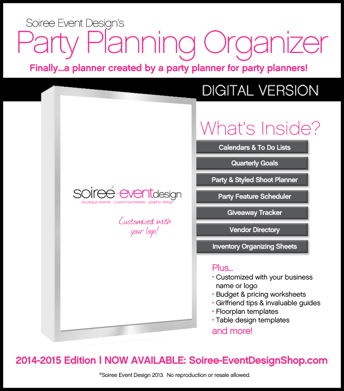 Soiree Event Design\u0027s Party Planning Organizer Now Available