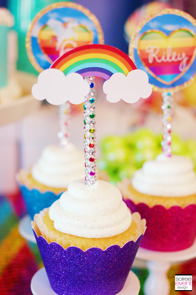 Sparkle Rainbow Candy Table - My Little Pony party theme - Soiree