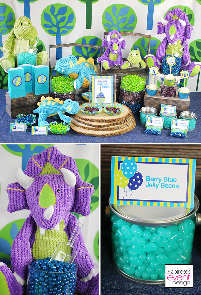 FREE Birthday Party Printables Designed Exclusively for Jelly Belly - blue and green birthday party