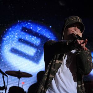 Eminem concert at G-Shock 30th Anniversary Party at Basketball City Pier 36