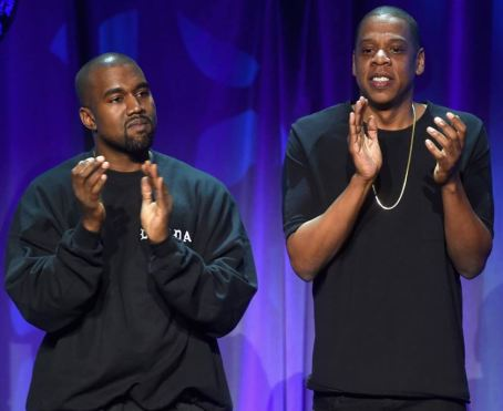 Jay-Z and Kanye applaud their own efforts to stay relevant. #applause