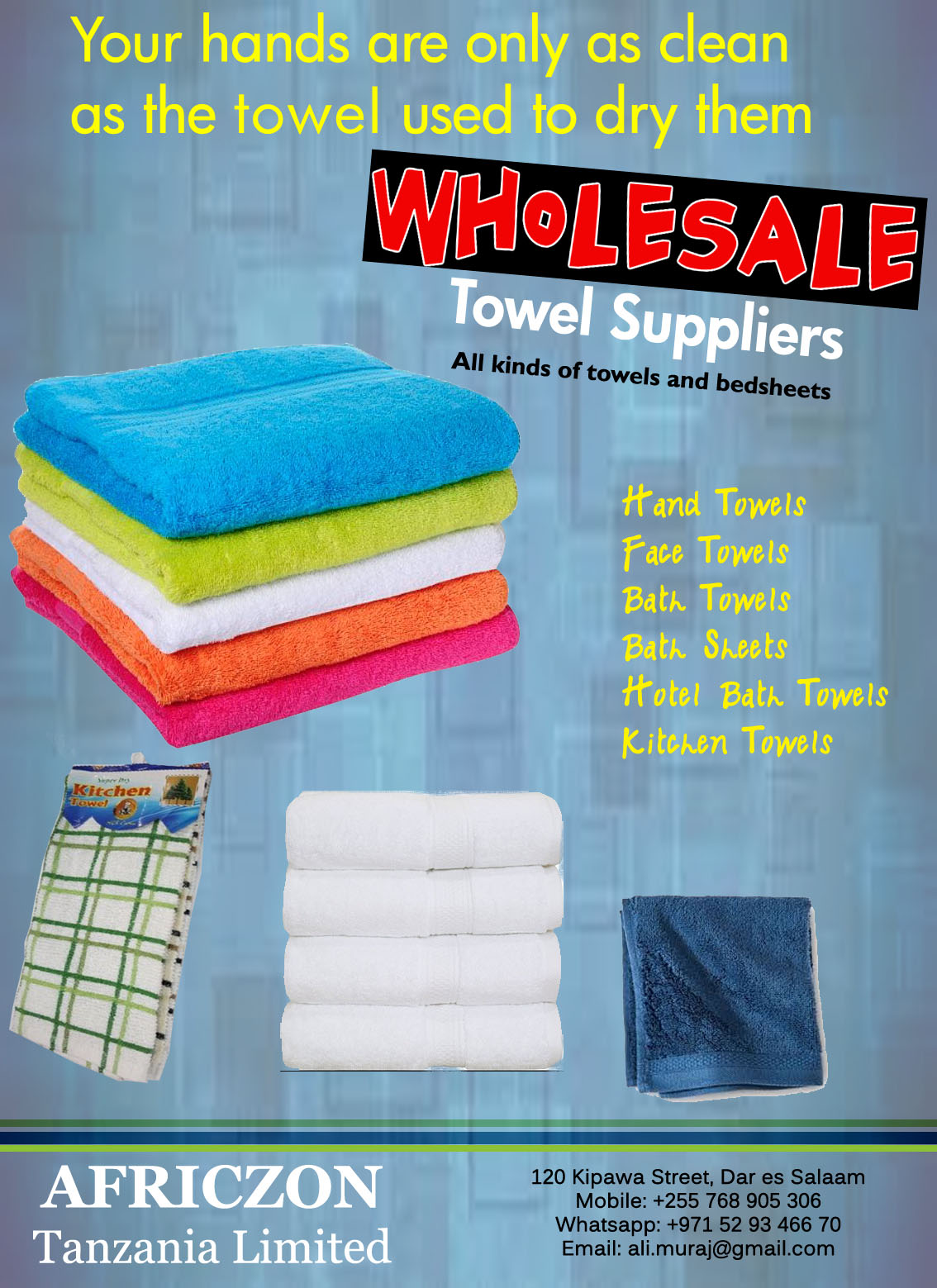 Wholesale Suppliers In Tanzania Wholesale Towel Suppliers