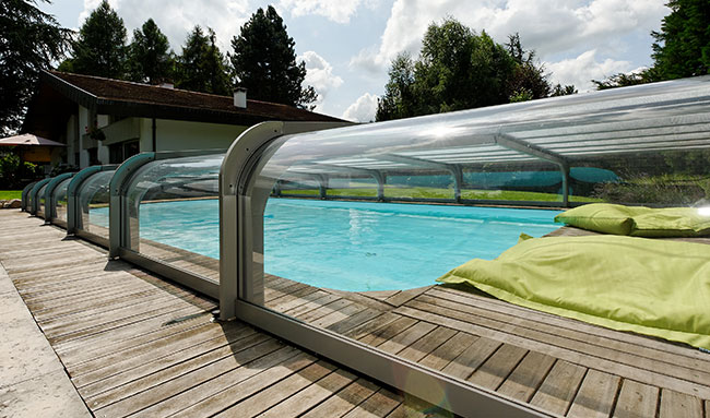 Abris De Terrasse Retractable Abri De Piscine Bas Orion - Sokool