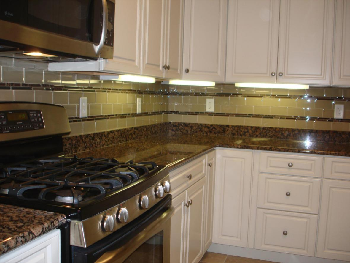 Backsplash White Cabinets Desert Brown Granite With White Cabinets Home Decor