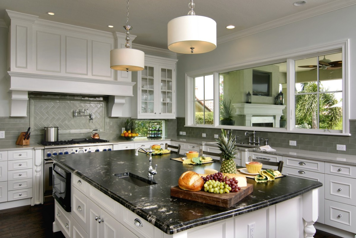 Countertops And Backsplash Combinations Titanium Granite White Cabinets Backsplash Ideas