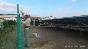 400kW太陽光発電所の施工現場