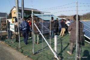 産業用太陽光発電システムの見学会