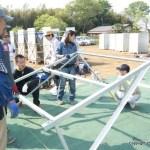 架台の設置:太陽光発電・施工体験会(4)