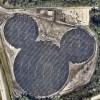 """ディズニーが太陽光発電をすると""""隠れミッキー""""になる件"""
