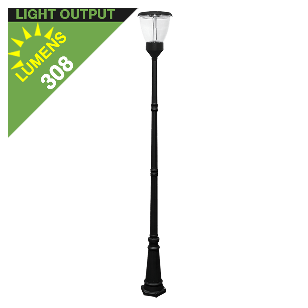 Solar Lamp Post Po04 Solar Balmoral Single Lamp Post Light With 10 Standard Pole