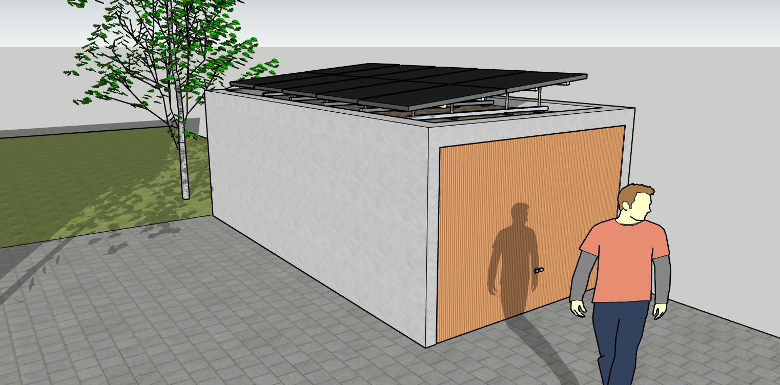 Optimale Breite Doppelgarage Garage Mit Flachdach – Mysolarpower24