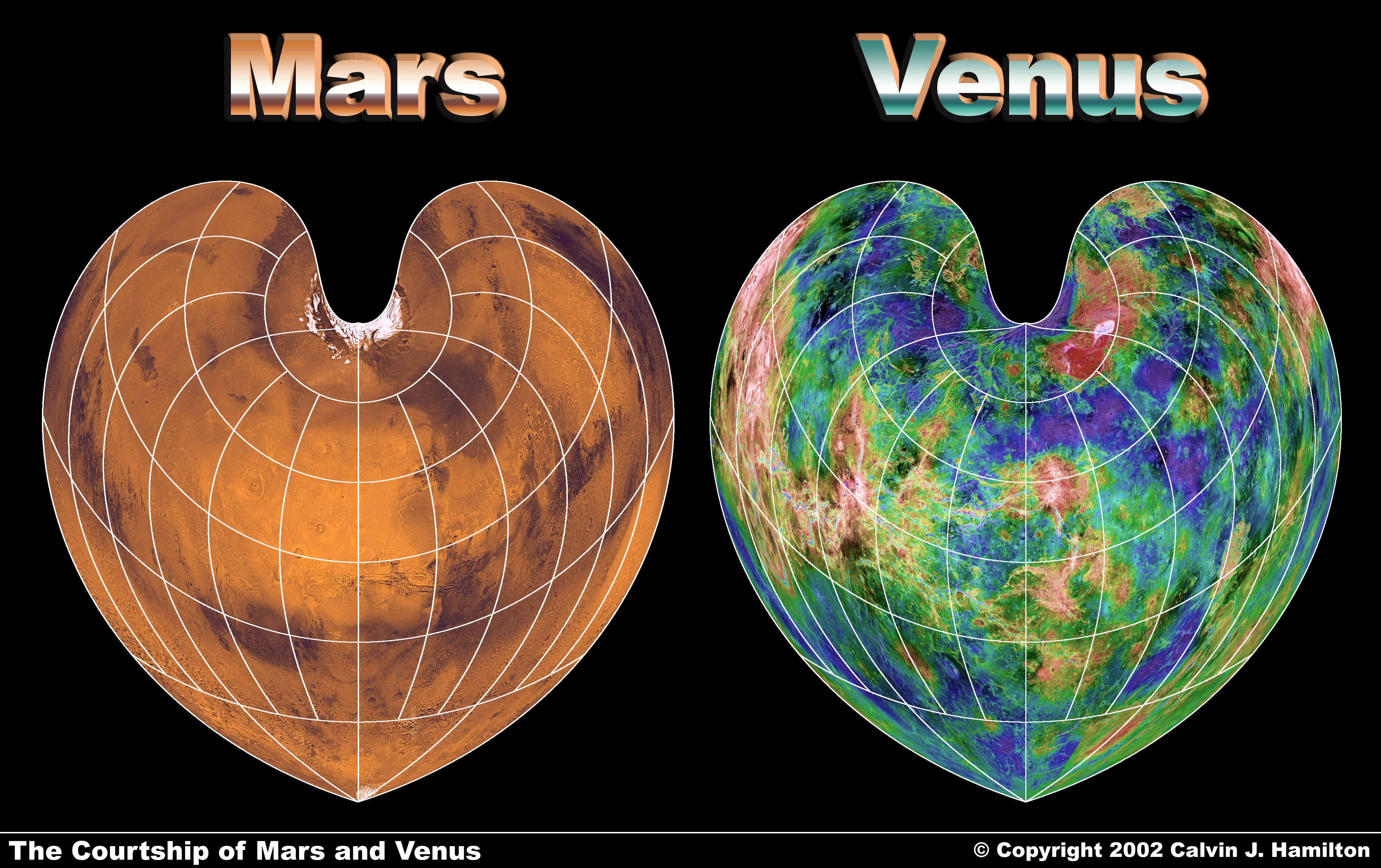Venus Mars A The Courtship Of Mars And Venus Bonne Projection
