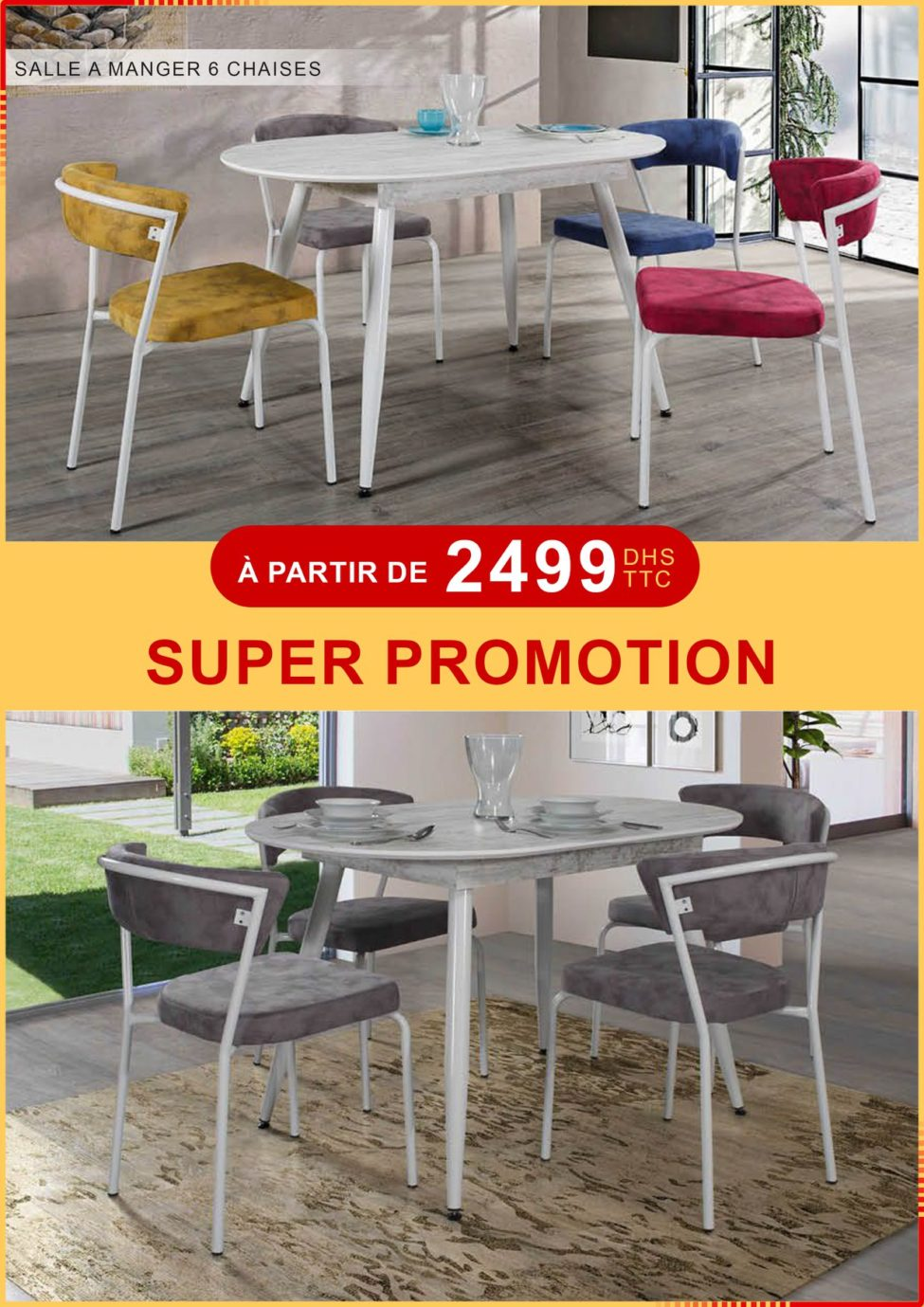 Chaises Promotion Super Promo Electro Bousfiha Table à Manger 6 Chaises à Partir