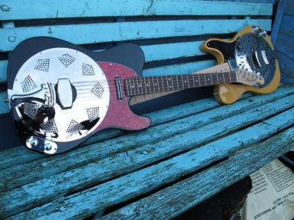 Sollophonic electric solid bodied resonator guitars can be set up to your individual playing needs. Actions and string gauges can be adjusted and tailored to your playing style;- heavy or lighter strings, high. low or mixed action, and also set up to accommodate different tunings you may want to use. Specialist, player specific set-ups are all part of Sollophonic Guitars approach.