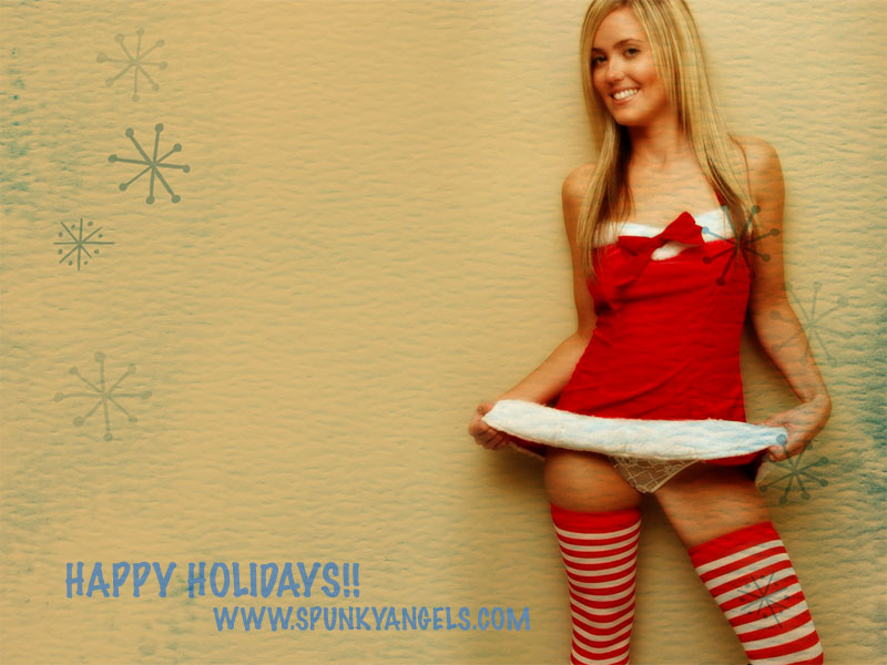 Www Girl Wallpapers Com Spunky Angels Merry Christmas Solo Girl Wallpapers