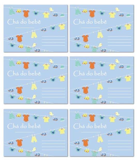 cartao de agradecimento de cha de bebe para imprimir - Acurlunamedia