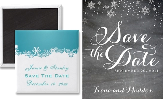 Winter Wedding Save the Dates Solomon Events