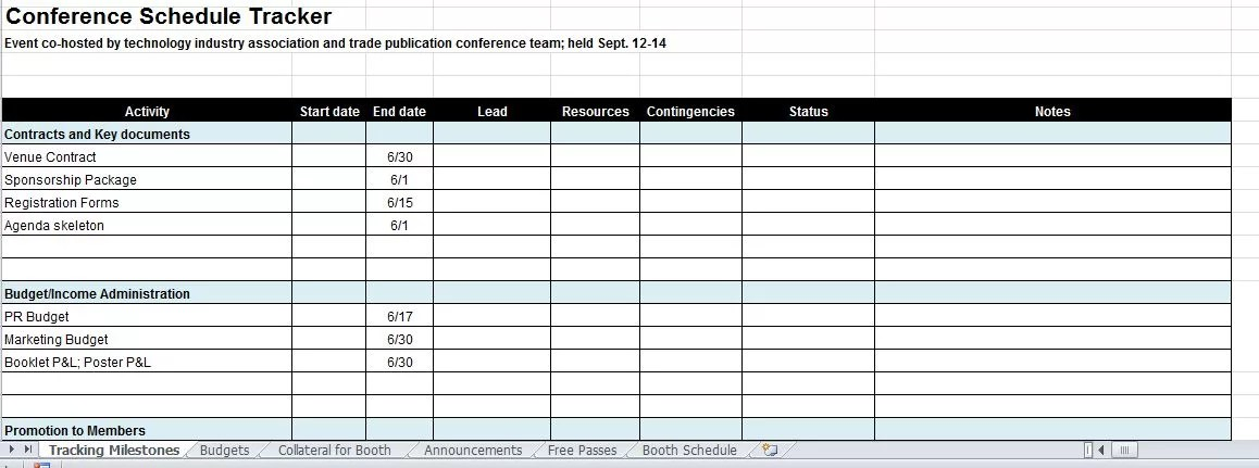 conference plan template - Ozilalmanoof
