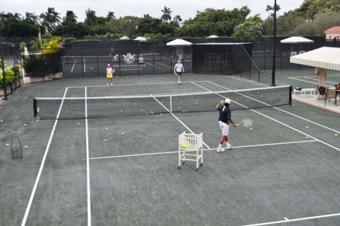 Erik Silver, Director of Tennis, Serves Up a Lesson at the Boca Raton Resort & Club, Boca Raton, Fla., Nov. 15, 2015